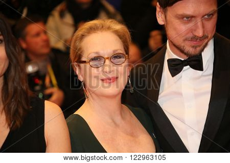Lars Eidinger, Meryl Streep  attends the closing ceremony of the 66th Berlinale International Film Festival on February 20, 2016 in Berlin, Germany.