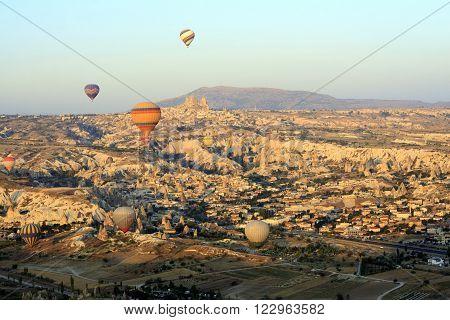 Hot Air Ballon Ride Over The Fairy Chimneys Of Cappadocia