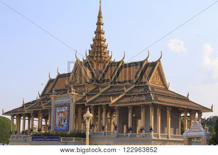 The Royal Palace Of Phnom Phen On A Sunny April Morning