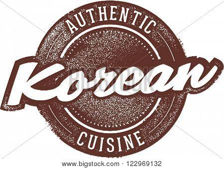 Korean Food Restaurant Menu Stamp