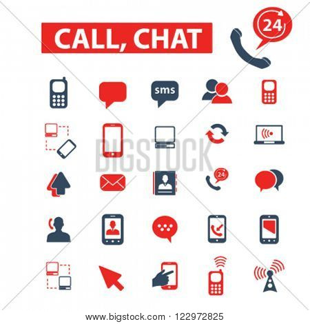 call, chat icons