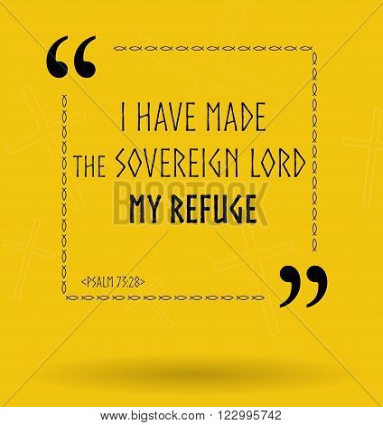 Best Bible quotes about finding refuge in God. Christian sayings about God for Bible study flashcards illustration