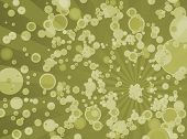 an abstract background with a yellowy bubble effect poster
