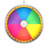 Lucky spin represent the wheel of fortune concept. This graphic is create by Three Dimensional. Welcome to add on any text and prize for use in game or sale promotion. poster