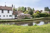Loose river running through the village of Loose Kent UK poster