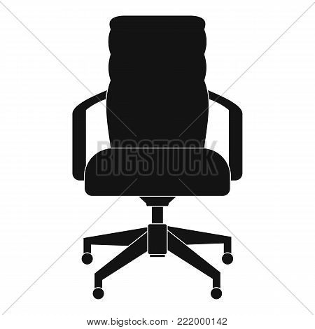 Office chair icon. Simple illustration of office chair vector icon for web.