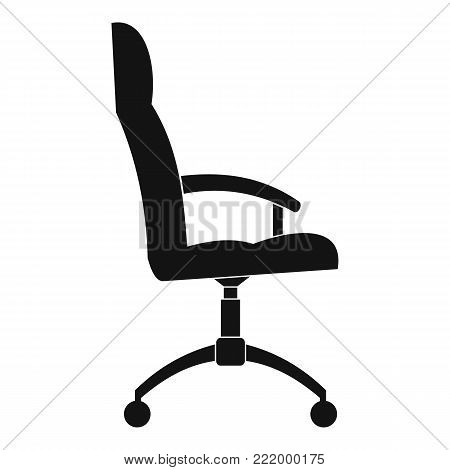 Office armchair icon. Simple illustration of office armchair vector icon for web.