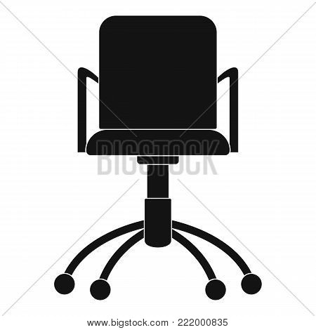 Computer chair icon. Simple illustration of computer chair vector icon for web.