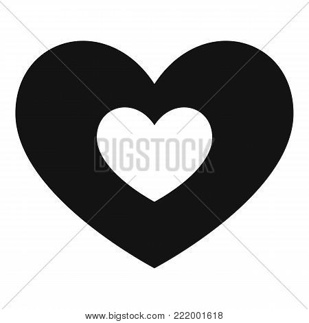 Double heart icon. Simple illustration of double heart vector icon for web.