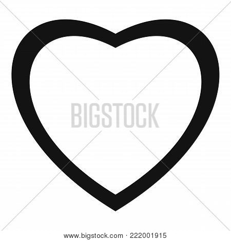 Fearless heart icon. Simple illustration of fearless heart vector icon for web.