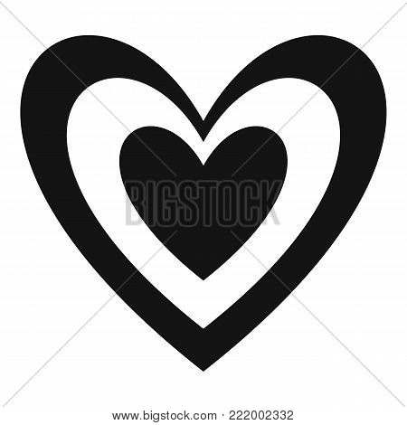 Masculine heart icon. Simple illustration of masculine heart vector icon for web.