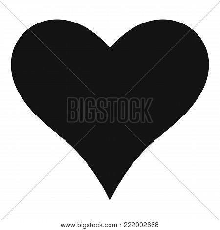 Affectionate heart icon. Simple illustration of affectionate heart vector icon for web.