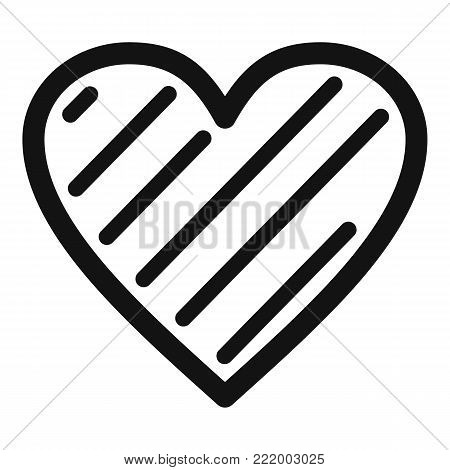 Simple heart icon. Simple illustration of simple heart vector icon for web.
