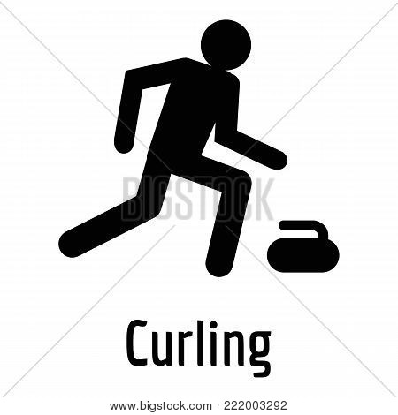 Curling icon. Simple illustration of curling vector icon for web.