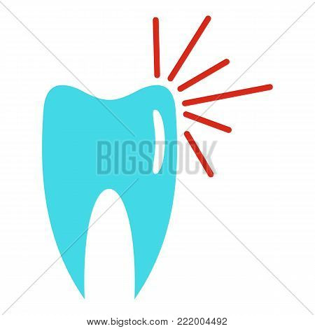Good tooth logo icon. Flat illustration of good tooth vector icon for web.