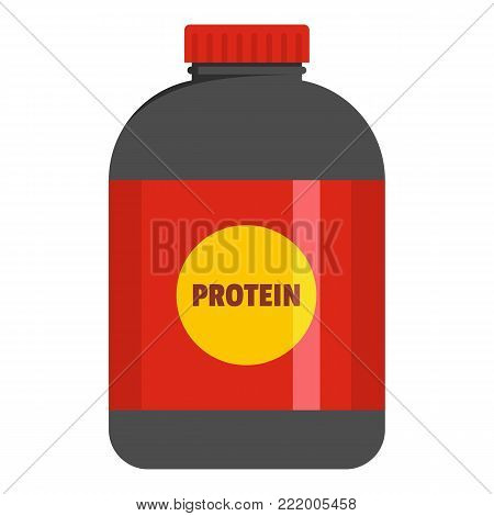 Large pack of protein icon. Flat illustration of large pack protein vector icon for web.