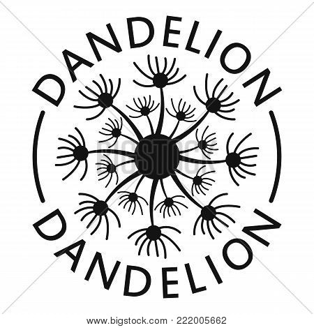 Delicate dandelion logo icon. Simple illustration of delicate dandelion vector icon for web.