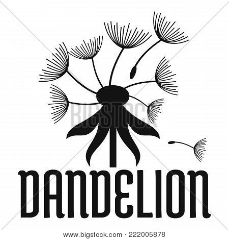 Field dandelion logo icon. Simple illustration of field dandelion vector icon for web.