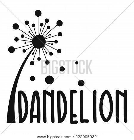 Forest dandelion logo icon. Simple illustration of forest dandelion vector icon for web.