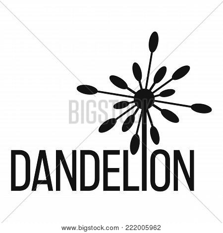 Yellow dandelion logo icon. Simple illustration of yellow dandelion vector icon for web.