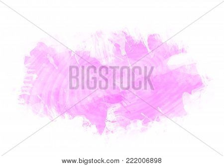 Pinky water color graphic color brush strokes patches effect background