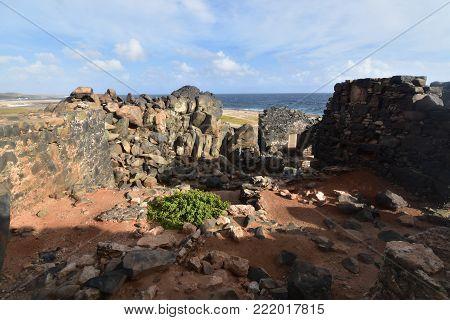 Gold mine ruins off the coast of Aruba