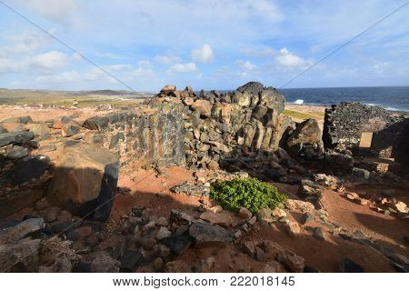 Off the coast the Bushiribana gold mill ruins are located