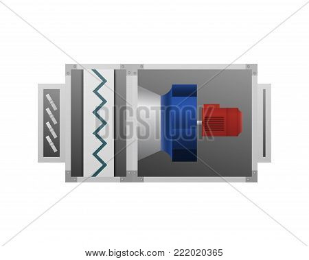 Ventilator vector illustration. HVAC industry. Ventilation unit.