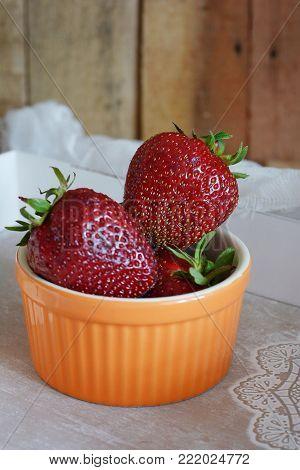 Fresh Ripe Strawberry. Seasonal Berry. Breakfast, Snack.