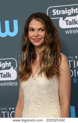 LOS ANGELES - JAN 11:  Sutton Foster at the 23rd Annual Critics' Choice Awards at Barker Hanger on January 11, 2018 in Santa Monica, CA