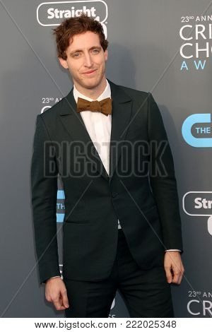LOS ANGELES - JAN 11:  Thomas Middleditch at the 23rd Annual Critics' Choice Awards at Barker Hanger on January 11, 2018 in Santa Monica, CA