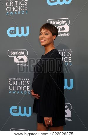 LOS ANGELES - JAN 11:  Cush Jumbo at the 23rd Annual Critics' Choice Awards at Barker Hanger on January 11, 2018 in Santa Monica, CA