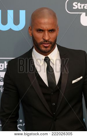 LOS ANGELES - JAN 11:  Ricky Whittle at the 23rd Annual Critics' Choice Awards at Barker Hanger on January 11, 2018 in Santa Monica, CA