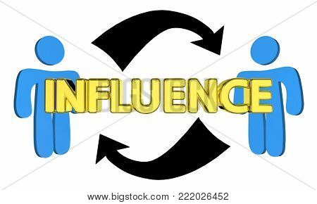 Influence Mutual Persuasion Two People Communication 3d Illustration