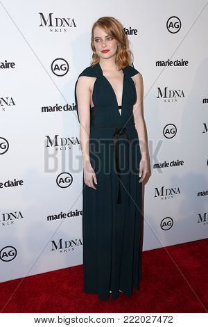 LOS ANGELES - JAN 11:  Emma Stone at the Marie Claire Image Makers Awards 2018 at the Delilah on January 11, 2018 in West Hollywood, CA