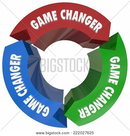 Game Changer Words Diagram Cycle Process 3d Illustration