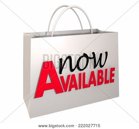 Now Available Shopping Bag New Product Order 3d Illustration