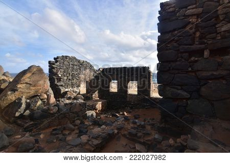 Gold mill ruins on the coast of Aruba