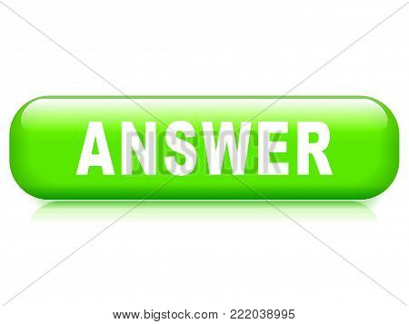 Illustration of answer button on white background