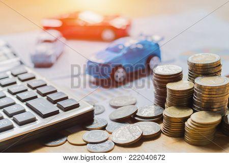 concept idea business finance and car insurance