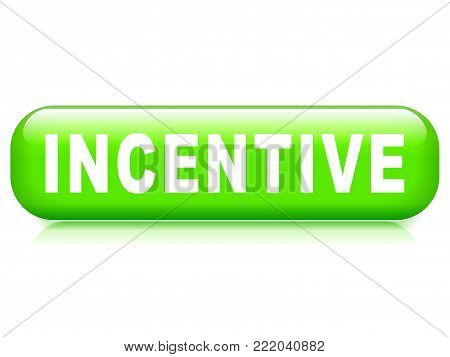 Illustration of incentive button on white background