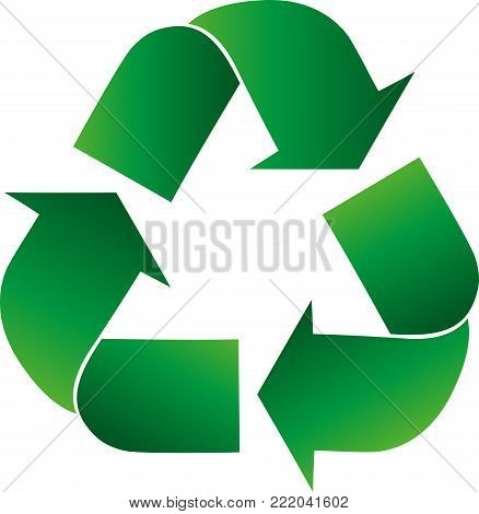 Recycling arrows, recycling signs, recycling and ecology logo