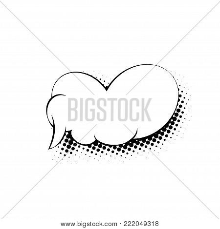 Speech Bubble Isolated on White Background in the Sixties Style,  Illustration