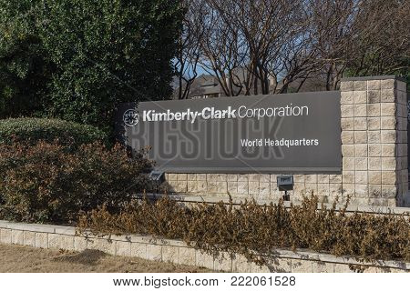 Entrance To  World Headquarters Of Kimberly-clark In Irving, Texas, Usa