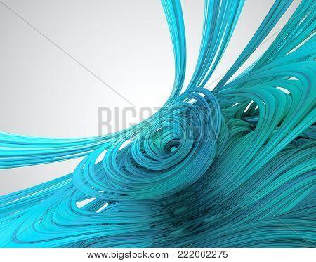 3D Fractal Involute Gel - 3D Rendering Fractal Image