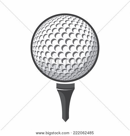Ball golf vector isolated on white background logo golf