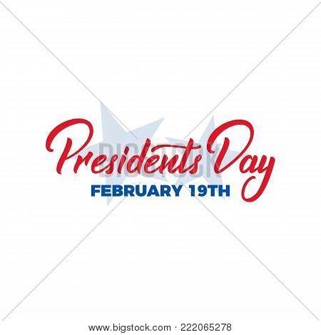 Presidents Day. Typographic lettering logo for USA Presidents Day celebration.