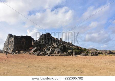 Stunning ancient gold mind ruin in Aruba