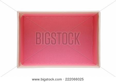 Opened box isolated on white background top view