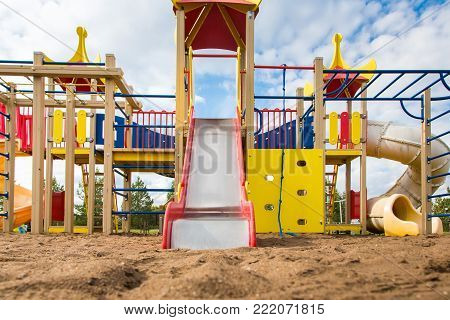 Colorfull children's playground on the open air.